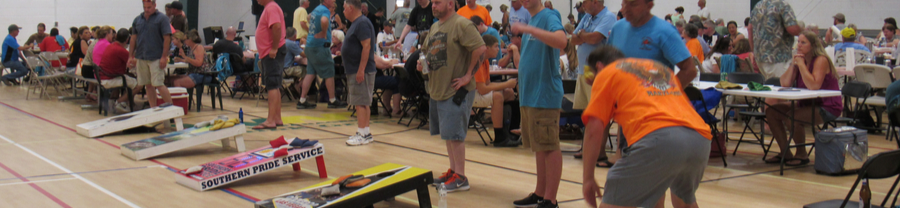 cornhole at the KGBA crab feast
